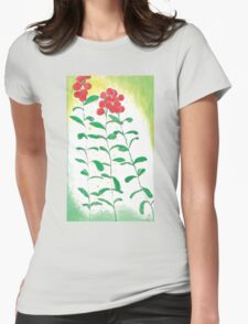 Lingonberries vector Womens Fitted T-Shirt