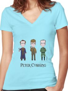 Peter Cushing Women's Fitted V-Neck T-Shirt