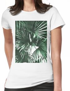 Tropical leaves Womens Fitted T-Shirt