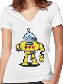 RoboPix Women's Fitted V-Neck T-Shirt