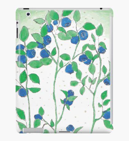 Blueberries vector iPad Case/Skin