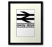 Away Day Culture Framed Print