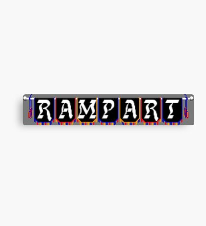 Rampart (NES Title Screen) Canvas Print
