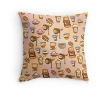 It is a good time for Coffee (pattern) Throw Pillow
