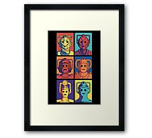 Cyberpop Evolution Framed Print
