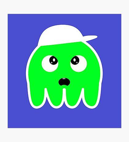 Cool Amazed Squid (Green) Photographic Print