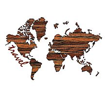 Travel World Map Photographic Print