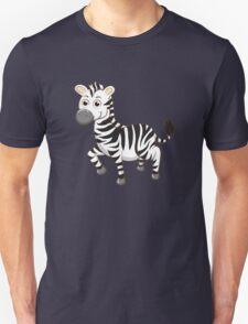 Cute cartoon zebra Unisex T-Shirt