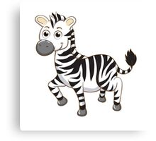 Cute cartoon zebra Canvas Print