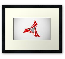 abstract-logo Framed Print