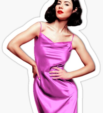 Marina and the Diamonds in pink dress Sticker