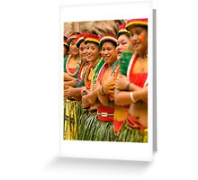 Yapese Dancers - Pohnpei, Micronesia Greeting Card