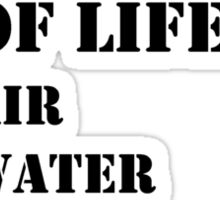 The Necessities Of Life: My Parents - Black Text Sticker