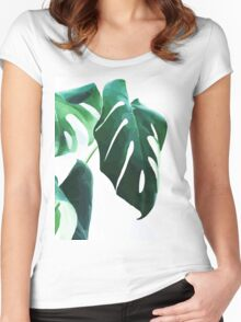 Monstera  Women's Fitted Scoop T-Shirt