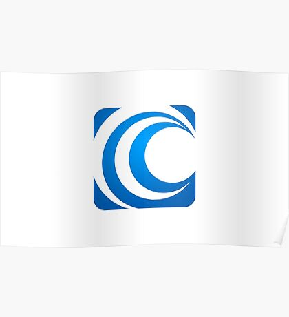 alphabet-C-abstract-icon Poster