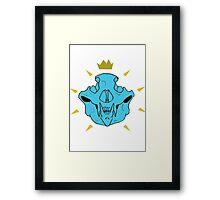 Skull Crown Blue Framed Print