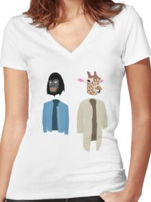 Dirk Gently Vector Women's Fitted V-Neck T-Shirt