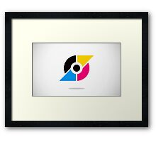 circle-and-triangle-logo Framed Print