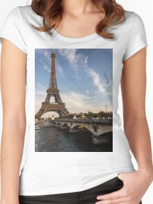 Tour Eiffel et Pont d'Iéna Women's Fitted Scoop T-Shirt