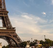 Tour Eiffel et Pont d'Iéna Sticker
