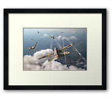Headlong attack (Hurricanes over Dorset) Framed Print