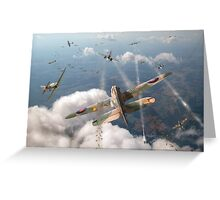 Headlong attack (Hurricanes over Dorset) Greeting Card