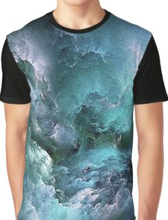 Swirling Blue and Purple Clouds Graphic T-Shirt