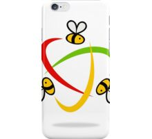 bee-flying-circle-logo iPhone Case/Skin