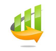 chart-grow-with-arrow by mydigitall