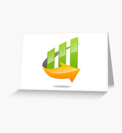 chart-grow-with-arrow Greeting Card