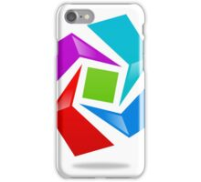 dimensional-abstract-logo iPhone Case/Skin