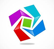 dimensional-abstract-logo by mydigitall