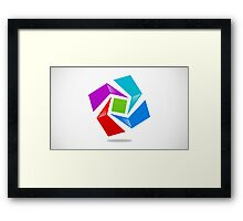 dimensional-abstract-logo Framed Print