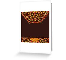 card with an ornament from autumn leaves Greeting Card