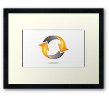 circle-arrow-logo Framed Print