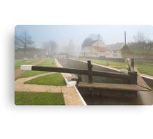 Thames Lock in Fog Canvas Print
