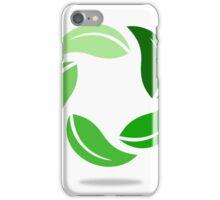 circle-green leaf iPhone Case/Skin