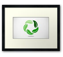 circle-green leaf Framed Print