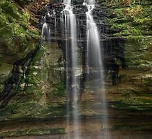 Tannery Falls - Munishing, Michigan by Kenneth Keifer
