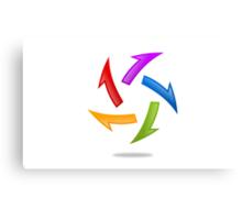 circle-arrow-abstract-logo Canvas Print