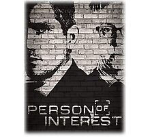 Person of Interest Graffiti Main Title (Large) Photographic Print