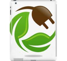 eco-electric-leaf-logo iPad Case/Skin