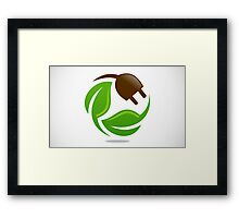 eco-electric-leaf-logo Framed Print