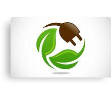 eco-electric-leaf-logo Canvas Print
