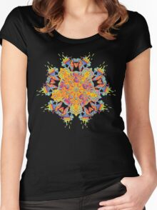 Psychedelic jungle kaleidoscope ornament 21 Women's Fitted Scoop T-Shirt