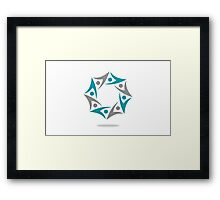 circle-of-people-abstract Framed Print