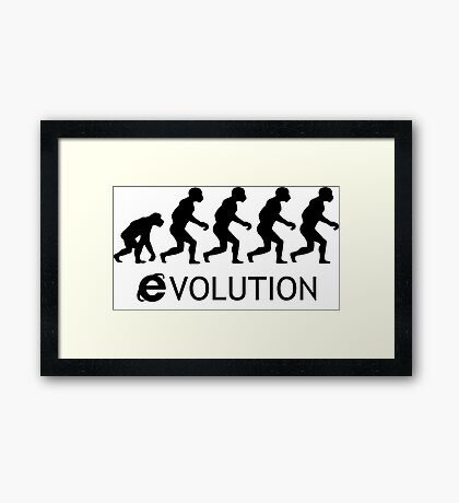 Evolution Explorer Framed Print