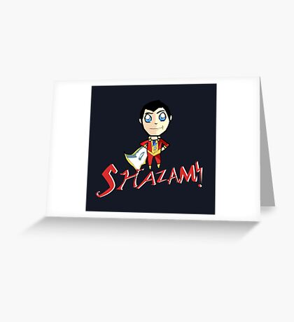Shazam! With Text Greeting Card