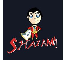 Shazam! With Text Photographic Print