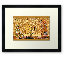 Gustav Klimt - The tree of life Framed Print